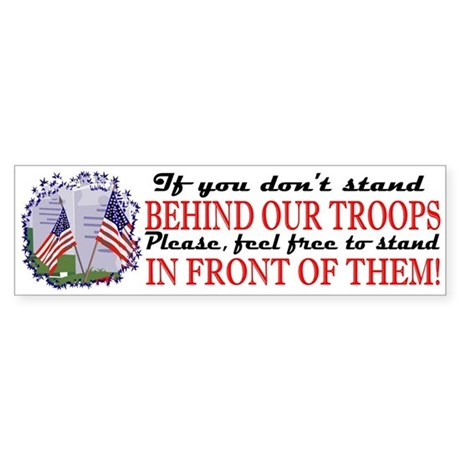 Behind Our Troops Bumper Sticker