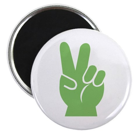 "Green Peace Sign 2.25"" Magnet (100 pack)"