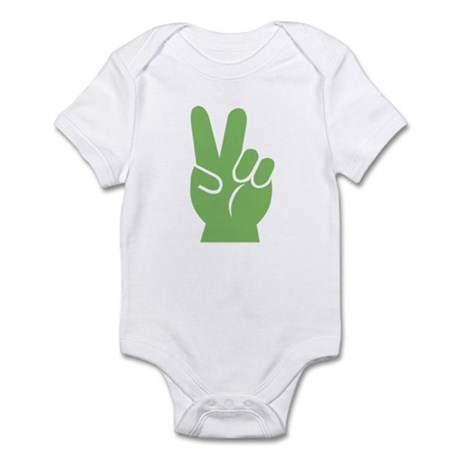 Green Peace Sign Infant Bodysuit