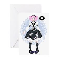 Cute Gothic Lolita - manga style Greeting Card