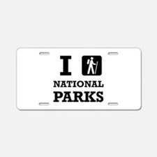 Hike National Parks Aluminum License Plate