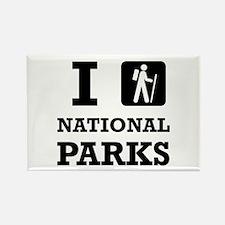 Hike National Parks Magnets