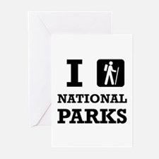Hike National Parks Greeting Cards