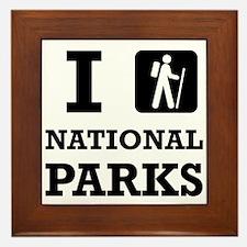 Hike National Parks Framed Tile