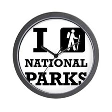 Hike National Parks Wall Clock