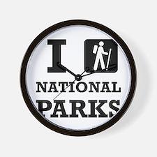 Hike National Parks Wall Clock