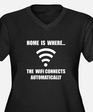 Home WiFi Plus Size T-Shirt