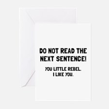 Little Rebel Greeting Cards