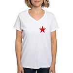 The Red Star Women's V-Neck T-Shirt
