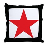 The Red Star Throw Pillow