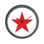 The Red Star Wall Clock