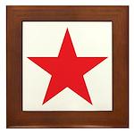 The Red Star Framed Tile