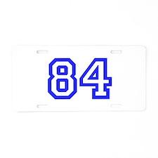 #84 Aluminum License Plate