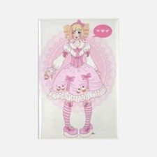 Sweet Lolita - manga style Rectangle Magnet