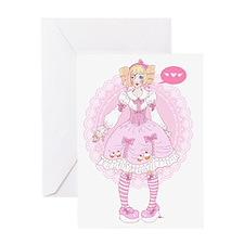 Sweet Lolita - manga style Greeting Card