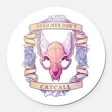 Dead Men Don't Catcall Round Car Magnet