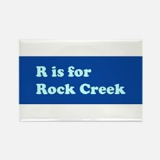 R is for Rock Creek Rectangle Magnet