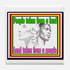 Black American Native American Tile Coaster
