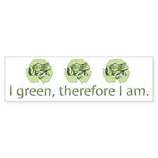 I Green, Recycling Frog Bumper Bumper Sticker