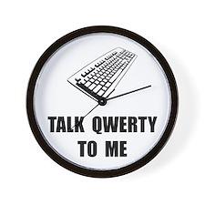 Talk QWERTY Wall Clock
