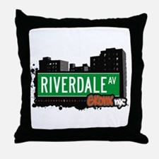 Riverdale Av, Bronx, NYC Throw Pillow