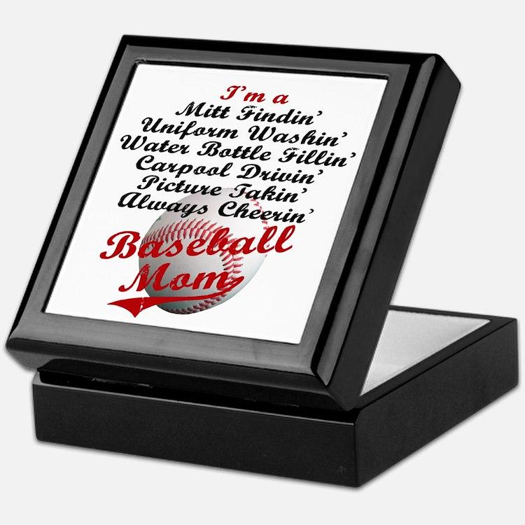 Baseball_Mom Keepsake Box