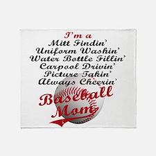Baseball_Mom Throw Blanket