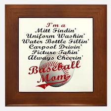 Baseball_Mom Framed Tile