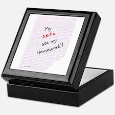 Akita Homework Keepsake Box