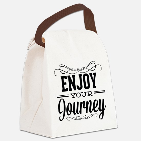 Enjoy Your Journey Canvas Lunch Bag