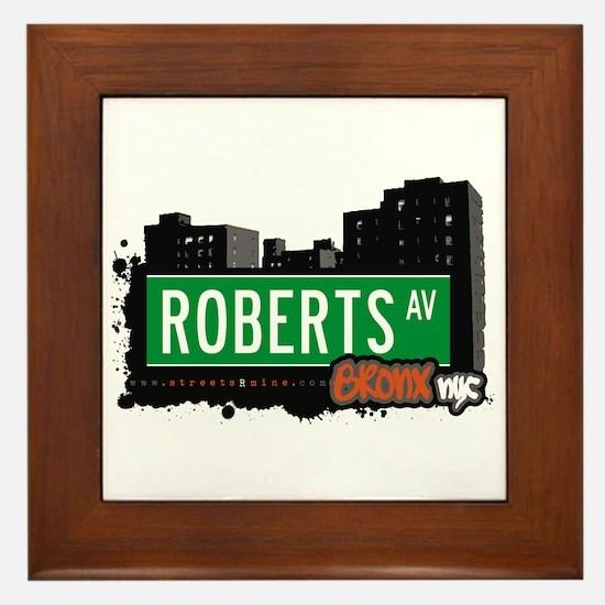 Roberts Av, Bronx, NYC Framed Tile