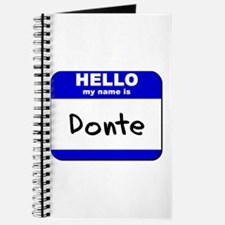 hello my name is donte Journal