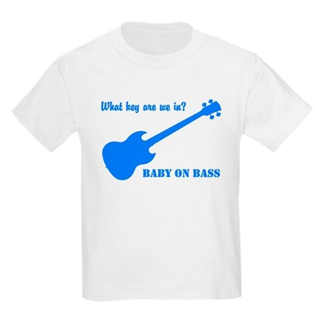Baby on Bass - Kids Light T-Shirt