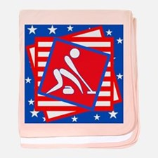 Curling American Style baby blanket