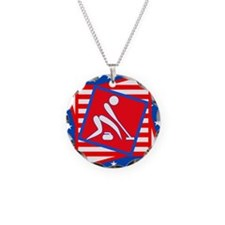 Curling American Style Necklace
