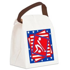 Curling American Style Canvas Lunch Bag