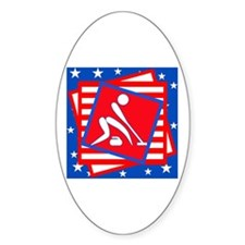 Curling American Style Decal