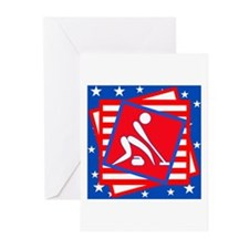 Curling American Style Greeting Cards (Pk of 10)