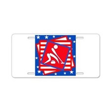 Curling American Style Aluminum License Plate