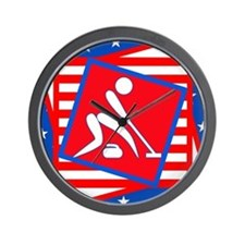 Curling American Style Wall Clock