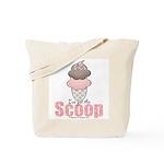 Strawberry Chocolate Ice Cream Cone Tote Bag