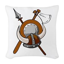 Viking Armour Woven Throw Pillow