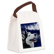 Alaskan Husky Canvas Lunch Bag