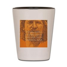 The Dude Minds Shot Glass
