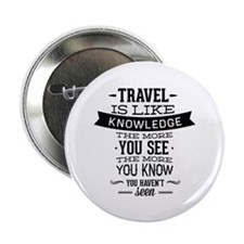 "Travel Is Like Knowledge 2.25"" Button (10 pack)"