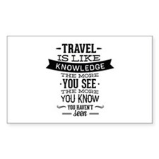Travel Is Like Knowledge Decal