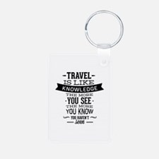 Travel Is Like Knowledge Aluminum Photo Keychain