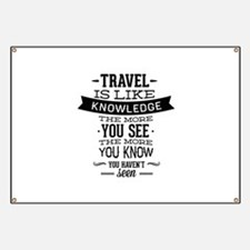 Travel Is Like Knowledge Banner