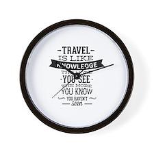 Travel Is Like Knowledge Wall Clock