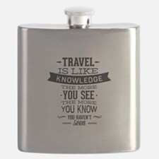 Travel Is Like Knowledge Flask